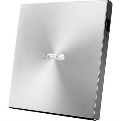 Drive ASUS Gravador Externo CD, DVD, ZenDrive U9M, Ultra-Slim, 1 tipo C+ 1 tipo A, Windows e MAC, Nero BackItUp - SDRW-08U9M-U/SIL/G/AS