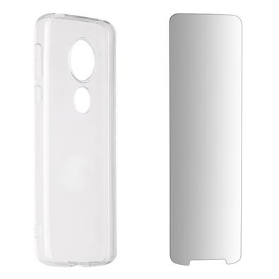 Kit 2 em 1 Celular Mart - Película de Vidro e Case de Silicone Transparente para Moto G6 Play XT1922