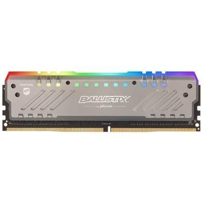 Memória Crucial Ballistix Tactical Tracer, RGB, 16GB, 2666MHz, DDR4, CL16, Cinza - BLT16G4D26BFT4