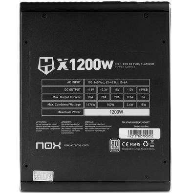Fonte Nox 1200W 80 Plus Platinum Hummer X - NXHUMMERX1200WPT