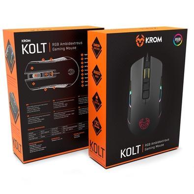Mouse Gamer Nox Krom 4000DPI RGB Kolt