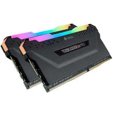 Memória Corsair Vengeance RGB Pro, 16GB (2x8GB), 2666MHz, DDR4, CL16, Preto - CMW16GX4M2A2666C16