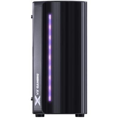 Gabinete Vinik Spectrum Midtower VX Gaming Preto com LED RGB 7 Cores e Lateral em Acrílico SP7LAF