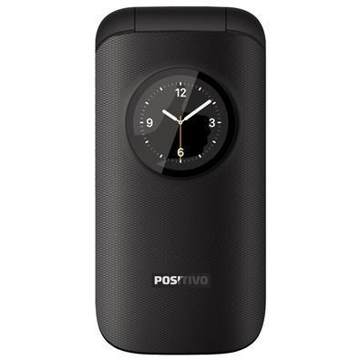 Celular Positivo P40 Flip, Tela 1.8´, Radio FM, Bluetooth, Dual Chip, Desbloqueado - Preto