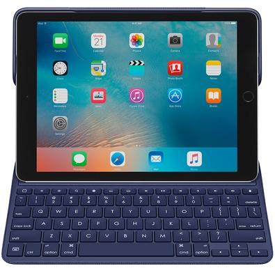 Capa Create Logitech Com Teclado Para iPad Pro Azul Marinho - 920-008121