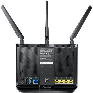 Roteador Gamer Wireless ASUS RT-AC86U, Dual band AC2900Mbps, AiMesh, 3 Antenas, USB 3.0 impressora, 3G, 4G, DualCore, Rede Gigabit, AiRadar