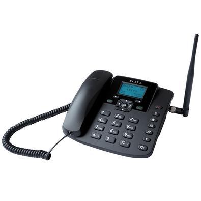 Celular de Mesa Elsys, Quadriband GSM, Envia e Recebe SMS, Dual Chip, Desbloqueado, Preto - EPFS12