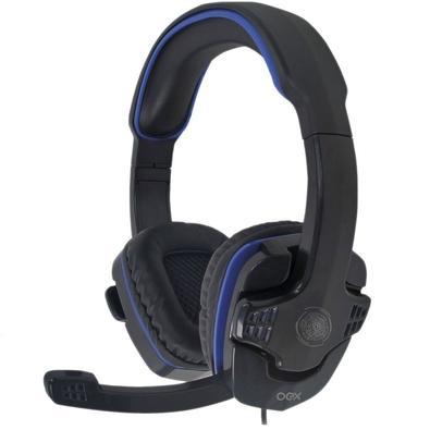 Headset Gamer OEX Game Stalker P2, Preto/Azul - HS209