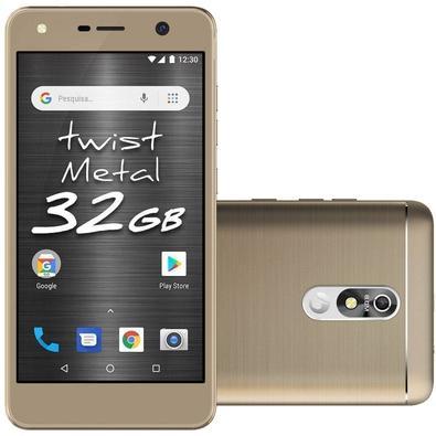 Smartphone Positivo Twist Metal S531, 32GB, 8MP, Tela 5.2´, Dourado