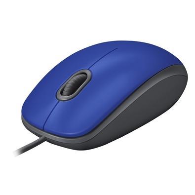 Mouse Logitech M110 USB com Clique Silencioso, Design Ambidestro e Facilidade Plug and Play, Azul - 910-005491