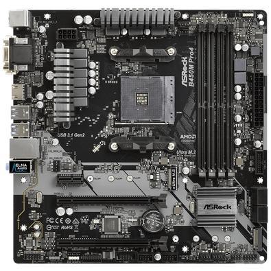 Placa-Mãe ASRock B450M Pro4, AMD AM4, mATX, DDR4