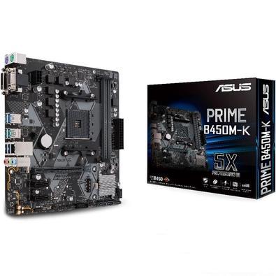 Placa-Mãe Asus para AMD AM4 mATX PRIME B450M-K DDR4