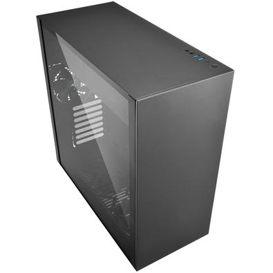 Gabinete Gamer Sharkoon Pure Steel sem Fonte, Mid Tower, USB 3.0, 2 Fans, Preto com Lateral em Vidro - PURE STEEL BLACK ATX