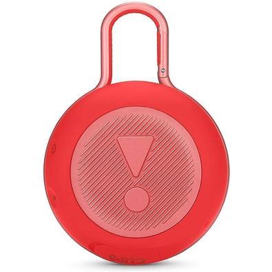 Caixa de Som JBL Clip 3, Bluetooth, À Prova D´Água, 1x3W, Vermelho