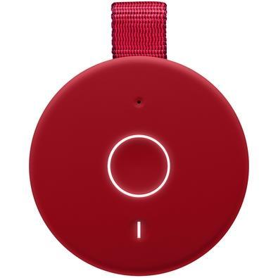 Caixa de Som Bluetooth Ultimate Ears BOOM 3 Portátil e À Prova D´Água - Até 15 horas de Bateria - Vermelha