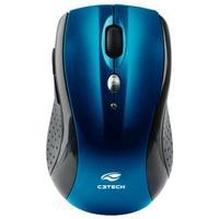 Mouse Sem Fio C3 Tech, Preto e Azul - M-W012BL V2
