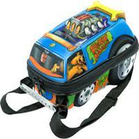 Mochila Escolar 3D com Lancheira MaxToy Scooby doo Turbo