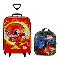 Mochila Escolar Masculina The Flash 3D com Lancheira MaxToy