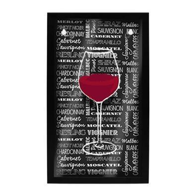 Quadro Porta-Rolhas Taça de Vinho