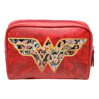 Necessaire Mulher-Maravilha Vermelho DC Comics