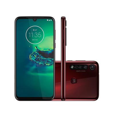 Smartphone Motorola Moto G8 Plus 64GB Tela 6,3 4GB Câm. Tripla + Câm. Selfie 25MP Vermelho Cereja
