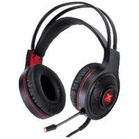 Fone Headset Gamer Vx Gaming Lugh Led Vermelho Usb Com Microfone Flexivel - Gh300