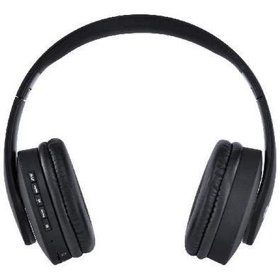 Fone Headset Bluetooth Easy Wh Com Fm Leitor De Cartão Micro Sd E Cabo Auxiliar P2 3.5Mm Preto - Hw1