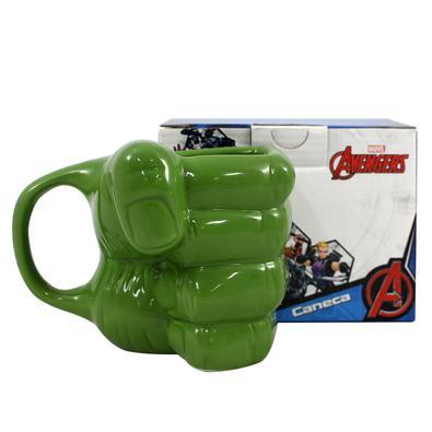 Caneca 3D 350ml mão Hulk