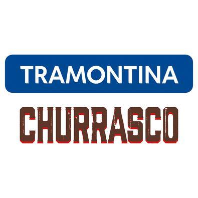 Conjunto de Garfos para Churrasco Tramontina em Aço Inox com Cabo Vermelho Polywood 6 Peças Tramontina