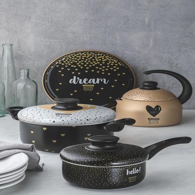 Kit para Cozinha Tramontina My Lovely Kitchen em Alumínio com Revestim Tramontina