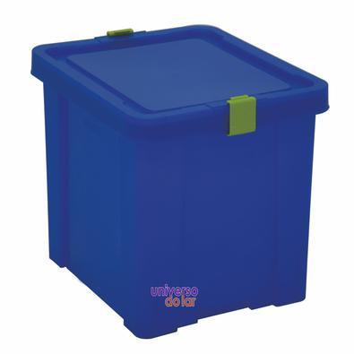 Caixa Organizadora 30L Verde Basic Azul
