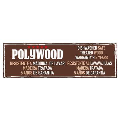 Cutelo Tramontina Polywood com Lâmina em Aço Inox e Cabo de Madeira Vermelho 6