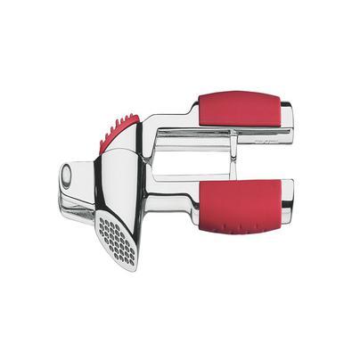 Espremedor de Alho Tramontina Utilitá em Zamak Cromado com Cabo ABS Vermelho Tramontina