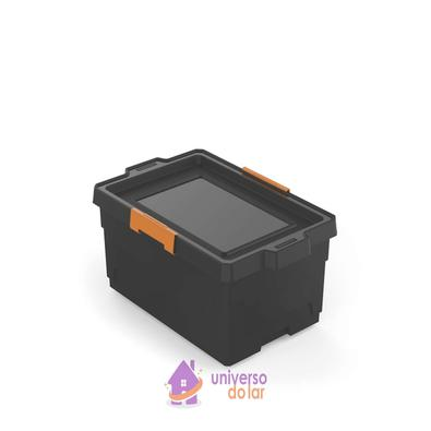 Caixa Organizadora 40L Preto Basic Tramontina