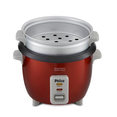 Panela Elétrica Multifuncional Philco PPA3V, 1.7 Litros, 110V, Vermelha - 56401066