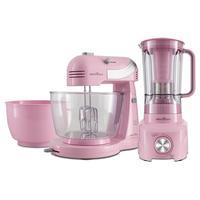 Kit Cozinha Batedeira e Liquidificador, Britânia, Cristal Pink Concept, 220V -  BKT21