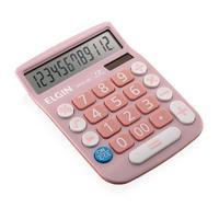 Calculadora De Mesa 12 Dígitos Mv-4130 Rosa