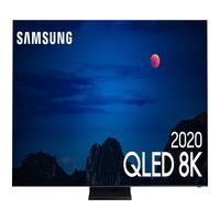 """Samsung Smart TV 75"""" QLED 8K, Tela Infinita, Processador com IA, Única Conexão e Suporte No-Gap, Alexa built in, Modo Ambiente  - 75Q950TS"""