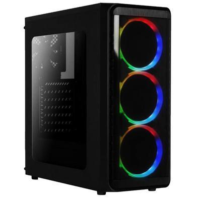 Computador Gamer Completo AMD 10-Core, CPU 3.8Ghz 8GB, Radeon R5 2GB, SSD 240GB, Kit Gamer Skill Monitor HDMI LED 19.5