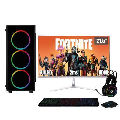 PC Gamer Completo XP 3Green, Intel Core i5, 8Gb,SSD 240Gb, Geforce RTX 2060 6Gb, Fonte 500W com Monitor 21.5