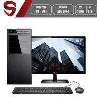 Computador Skill HomeJob Completo Intel Core i3 9ª Geração, 8GB, DDR4, Monitor 19.5´, SSD 120GB, HD 3TB, GeForce GT, ASUS