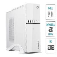 Computador Skill Slim PC Intel G4930 8ª Geração, 4GB, DDR4, HD 500GB, Intel UHD 610, HDMI, Full HD