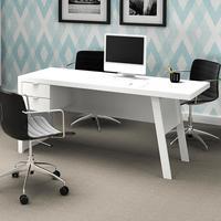 Mesa Tecno Mobili Para Computador com 2 Gavetas, Branco - ME4122