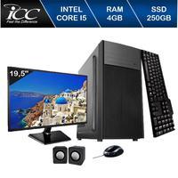 Computador ICC IV2540C2WM19 Intel Core I5 3.20 ghz 4GB 250GB DVDW Kit Multimídia Monitor LED 19,5HDMI FULLHD Windows 10