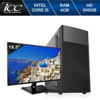 Computador ICC IV2541DWM19 Intel Core I5 3.20 ghz 4GB HD 500GB DVDRW HDMI FULL HD Monitor LED 19,5 Windows 10