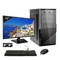 Computador Completo Icc Intel Core I5 4gb Hd 1tb Dvdrw Monitor 15 Windows 10