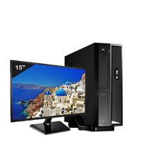 Mini Computador ICC SL2546Dm15 Intel Core I5 4gb HD 120GB DVDRW Monitor 15