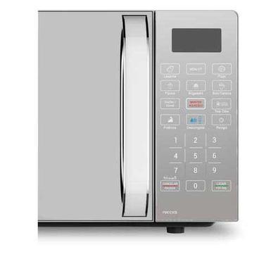 Micro-ondas Philco Com 20 Litros De Capacidade, Branco Com  Porta Espelhada - Pmo23eb - 110v
