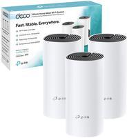 Kit com 3 Roteadores Gigabit Wifi TP-Link Rede Mesh AC1200 Mbps, Dual Band, 2.4Ghz e 5.0Ghz 3 em 1 DECO M4