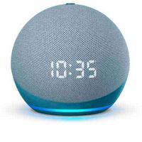 Echo Dot  Quarta Geração Smart Speaker Amazon Com Relógio E Alexa Azul